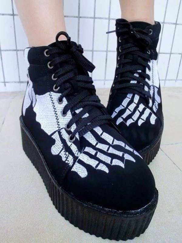 shoes black platform shoes beautiful