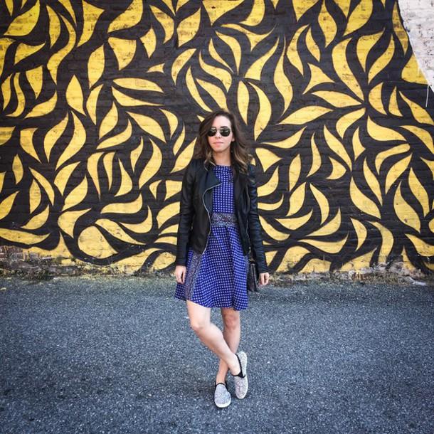 oh va darling blogger blue dress black jacket