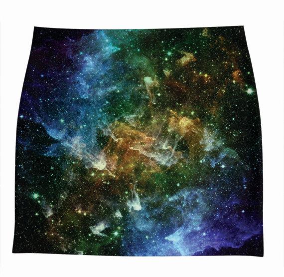 XS3XL SKIRTS galaxy print by hellominky308 van hellominky op Etsy