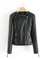 Leather stylish jacket coat pu motorcycle jacket ladies leather black
