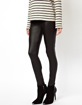 ASOS | ASOS Leather Look Leggings at ASOS