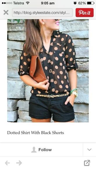 blouse polka dots
