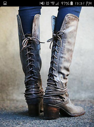 shoes boots lace up boots lace up coal greyish