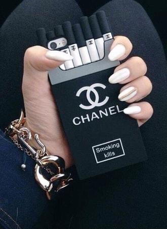 phone cover black iphone chanel smoke die fashion