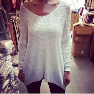 shirt jewels sweater winter sweater winter outfits white sweater cute sweaters cotton beautiful