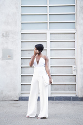 locks and trinkets,blogger,bustier,wide-leg pants,white pants