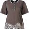 3.1 phillip lim striped top, women's, size: medium, black, polyester/spandex/elastane/viscose