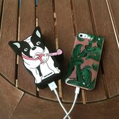 phone cover,yeah bunny,powerbank,power,dog,frenchie,frenchbulldog