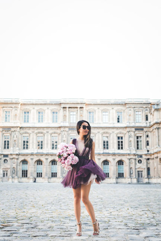 wendy's lookbook blogger dress shoes sunglasses belt jewels purple dress sandals high heel sandals