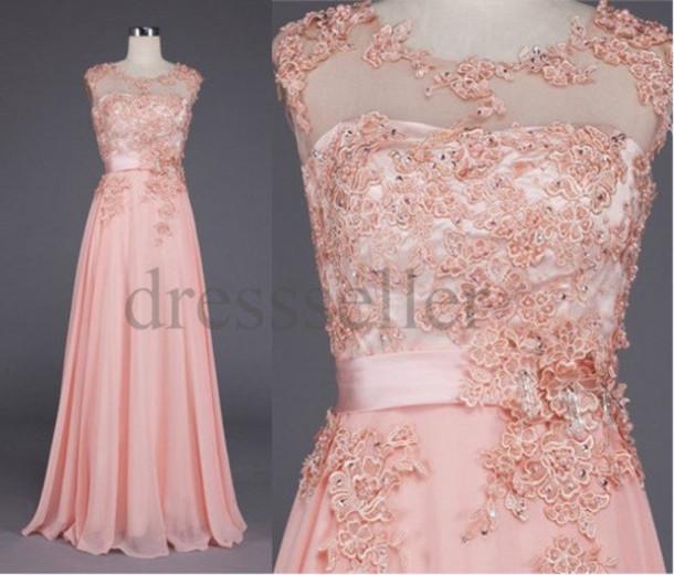 Dress long pink dress long wedding dresses pink bridal gowns applique