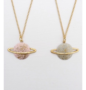 jewels space moon necklace