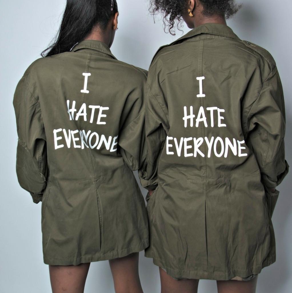 I hate everyone jacket vintage jacket
