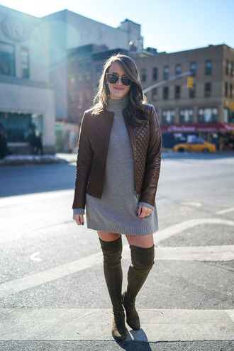 covering bases curvy blogger sweater dress jacket shoes sunglasses jewels