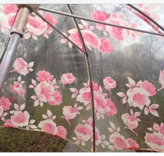 home accessory pink umbrella rose tumblr aesthetic pink aesthetic clear umbrella