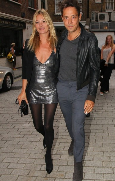 kate moss jamie hince grey dress dress