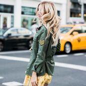 jacket,tumblr,parka,green parka,army green jacket,long hair,blonde hair