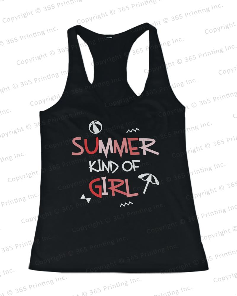Women's Beach Tank Tops Summer Kind of Girl Racerback Style | eBay