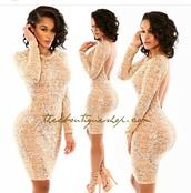 dress,high heels,heels,gold sequins,glitter dress,shoes,long sleeves,long sleeve dress,outfit