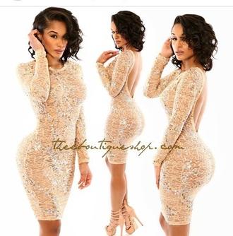dress high heels heels gold sequins glitter dress shoes long sleeves long sleeve dress outfit