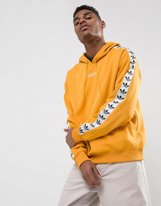 adidas Originals Adicolor TNT Tape Hoodie In Yellow BS4669 at