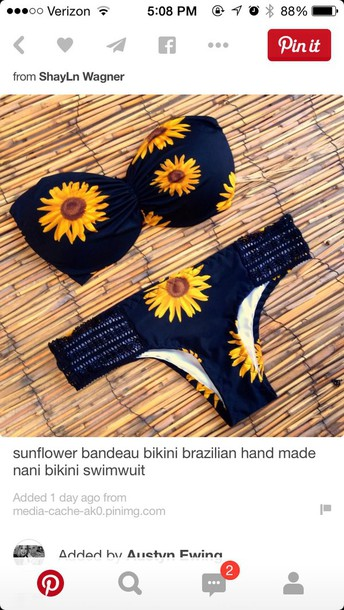 swimwear sunflower navy bandeau bikini black sunflower lace swim