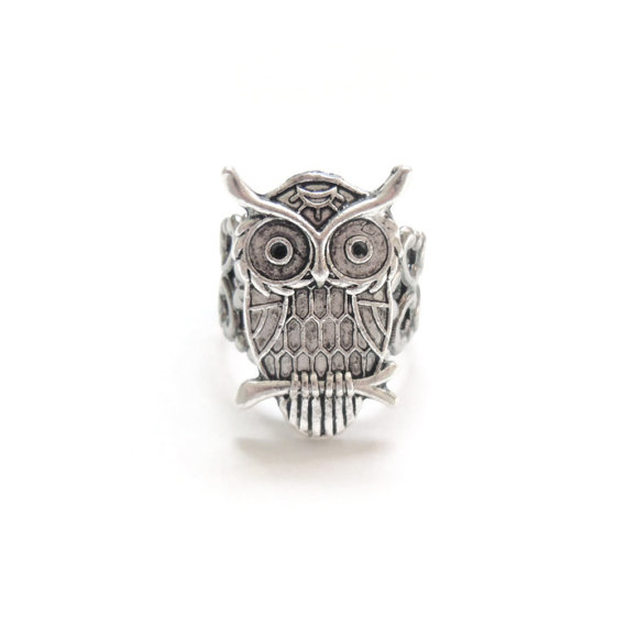 Victorian style owl ring by charmming on etsy