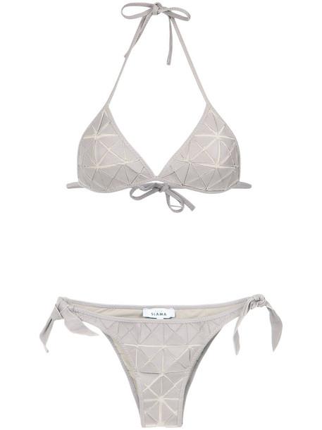 bikini patchwork women spandex nude swimwear