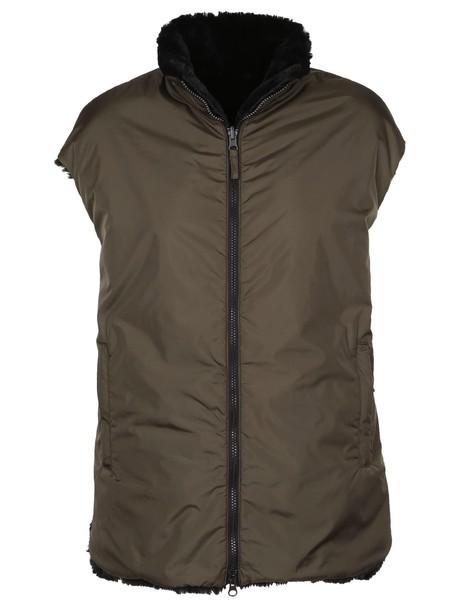ASPESI vest fur vest faux fur vest fur faux fur brown jacket