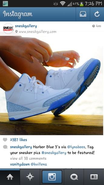 shoes light blue air jordan 3