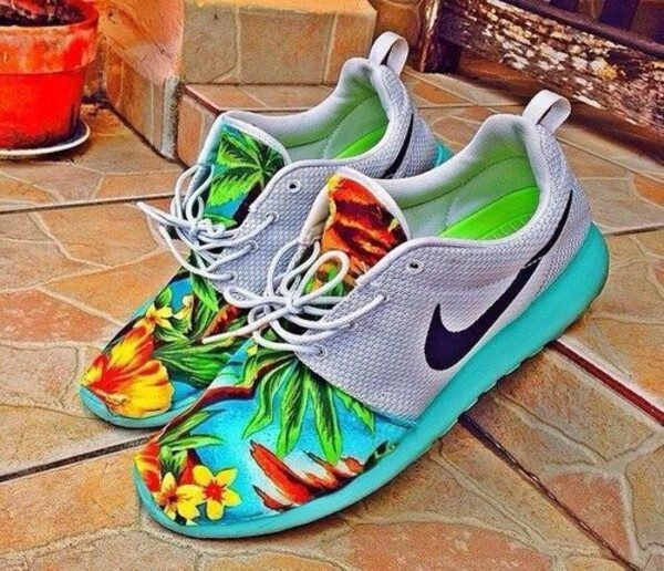 shoes nike roshe run nike roshes floral nike sneakers nike sneakers