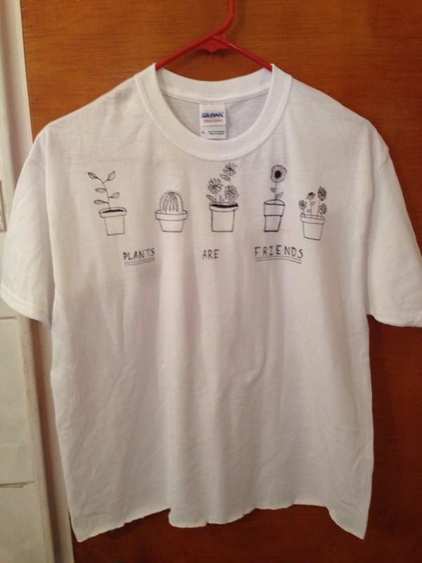 t-shirt plants tshirt. friends