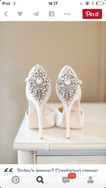 shoes white sparkling classy