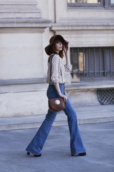miss pandora hat shirt jeans bag