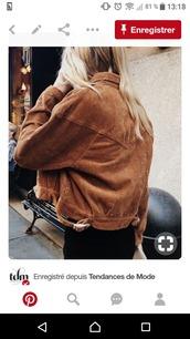 jacket,marron,rouille,daim,veste,suedine,manteau