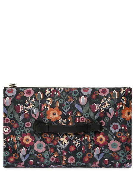 RED VALENTINO pouch floral black bag