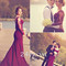 Custom made long maroon lace prom dresses, formal dresses - 24prom