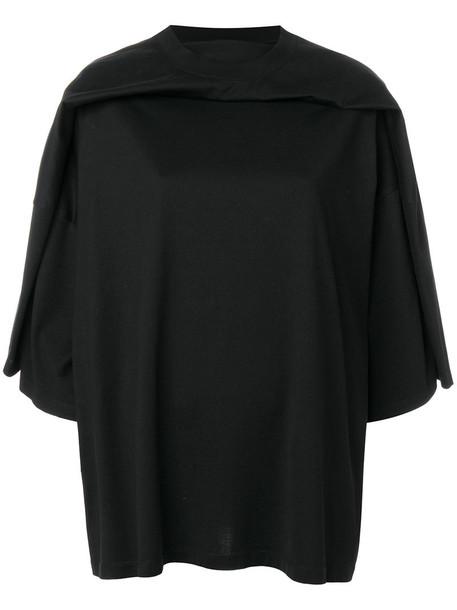 Y / Project - oversized T-shirt - women - Cotton - L, Black, Cotton