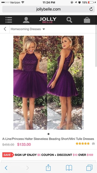 dress homecoming dress purple dress