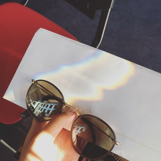 sunglasses cuir rayban love brown