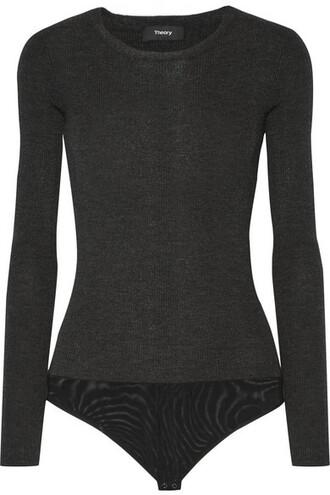 bodysuit wool charcoal underwear