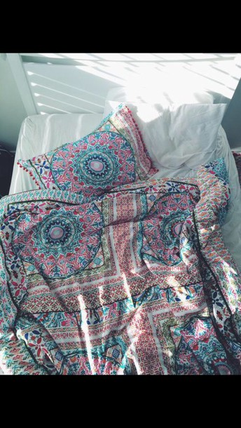 Home Accessory Boho Chic Bedding Bedding Pillow Hipster Delectable Patterned Blanket
