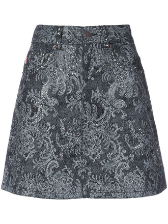 skirt mini skirt mini women embellished lace cotton black