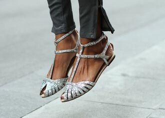 shoes flats silver flats strappy silver flats strappy flats silver shoes glitter shoes
