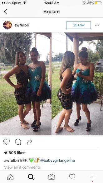 dress homecoming dress purple and blue