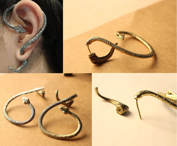 unique jewels popular lovely popular jewelry charming style lovey earrings snake ear cuff snake earring beautiful jewelry stylé girl earrings wonderful unique jewelry