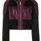 Versace - panelled jacket - women - cotton/acrylic/polyamide/wool - 40, pink/purple, cotton/acrylic/polyamide/wool