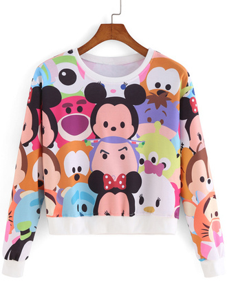 disney mickey mouse monsters inc winnie the pooh pluto toy story buzz lightyear sweatshirt cartoon sweater cropped sweater printed sweater