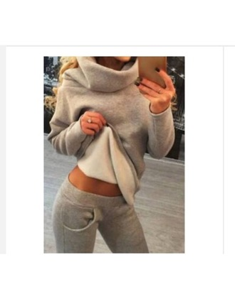 sweater outfit oversized sweater tracksuit