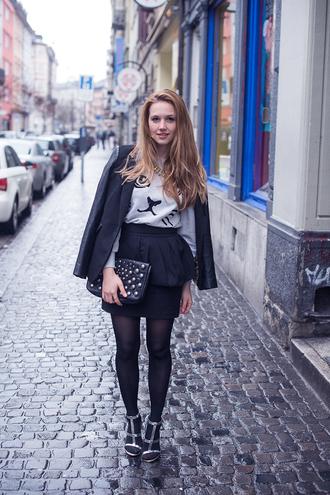 fashion gamble jacket sweater jewels skirt bag shoes