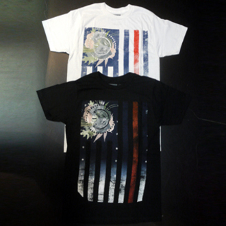 shirt civil t-shirt rebel flag us flag american flag black white